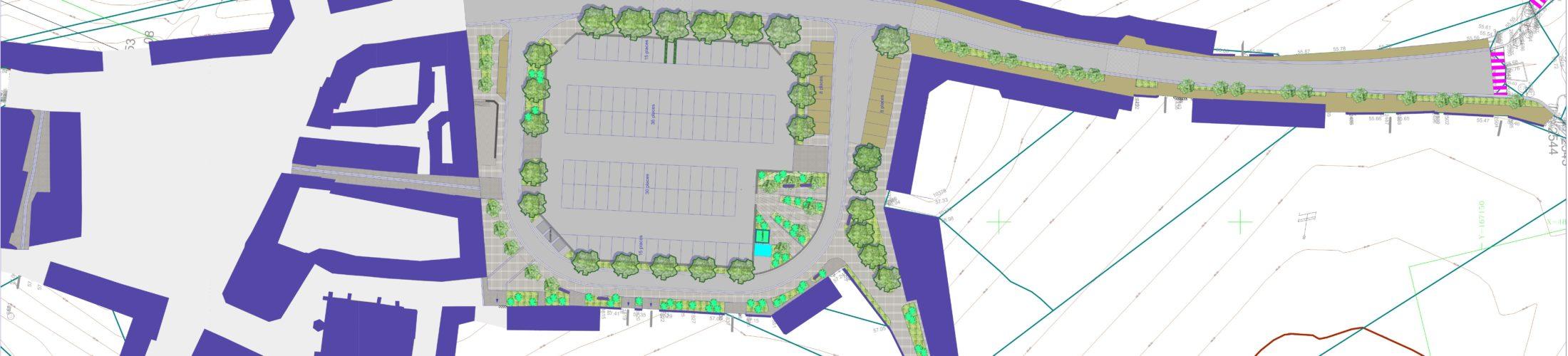La réhabilitation de la place Frémont des Essarts la 3ème phase du projet global de réhabilitation du centre-ville  L'enjeu central de l'action de 1